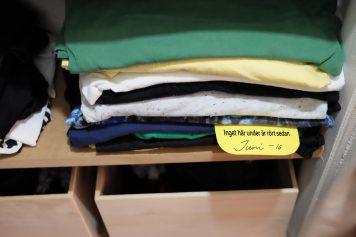 Hållbarhetsprojekt för att hålla ordning i garderoben